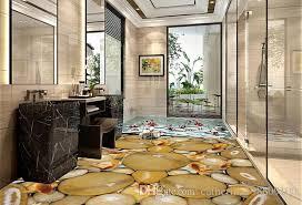 goldfish cobblestone 3d bathroom floor waterproof wallpaper for