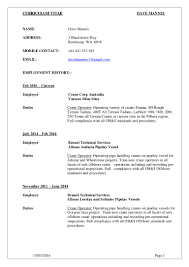crane operator resume resume for your job application
