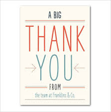 business thank you cards thank you business cards 17 business thank you cards free company
