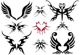 tribal wings tattoos designs