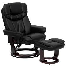 Leather Recliner Chair Uk Andre Leather Black Reclining Chair And Ottoman Andre Leather