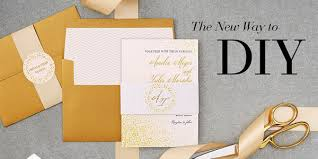 do it yourself invitations wedding paper divas foil sted invitations diy goodies sponsor