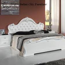 Emily Bedroom Furniture Emily Bedroom Set With 3 Drawer Dresser White Silver