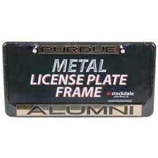byu alumni license plate frame boilermakers metal alumni inlaid acrylic license plate frame