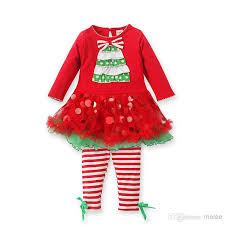 2018 christmas baby girls red ruffled tutu dress long sleeves