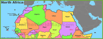 North Asia Map by Map Of North Africa