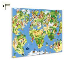 weltkarte für kinderzimmer magnettafel pinnwand memoboard motiv kinder weltkarte ebay