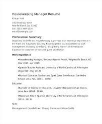 housekeeping resume unforgettable housekeeper resume examples to