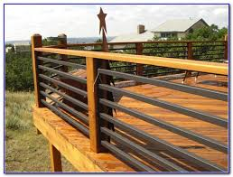 deck railing metal spindles decks home decorating ideas