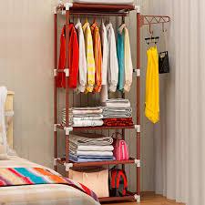 diy clothing storage simple coat rack floor clothes storage hanging hangers rack creative