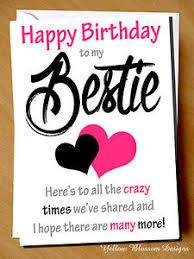 birthday card for best friends cheeky happy birthday card best friend bestie novelty girlie