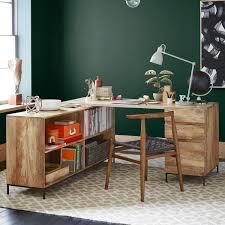industrial modular desk set box file bookcase west elm uk