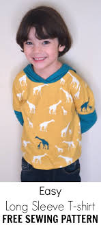 shirt pattern cutting pdf easy long sleeve t shirt with hoodie pdf pattern on the cutting