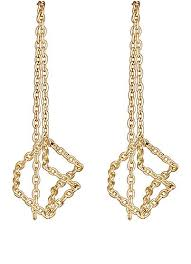 lotan earrings shihara cube chain drop earrings barneys new york