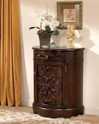 norcastle traditional dark brown wood accent cabinet occasional