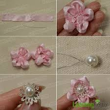 ribbon flowers make 2 more pink ribbon flowers ribbon pink