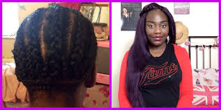 crochet braids houston all about my purple crochet braids using x pressions hair