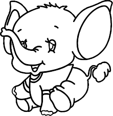 small elephant coloring page wecoloringpage