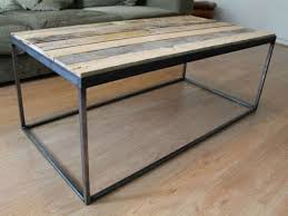steel and wood coffee table coffee table ideas