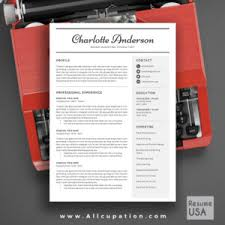 creative resume template cover letter 1 2 3 page template cv