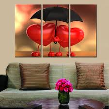 love umbrella paintings hd 3 pieces sets canvas art canvas 3