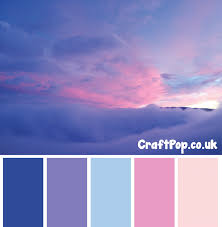 blue color palette colours taken from a photo of clouds cool toned palette purple