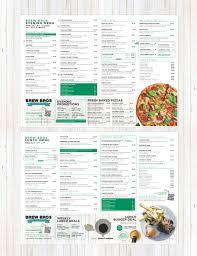 menu design for cafe brew bros businessman to the rescue
