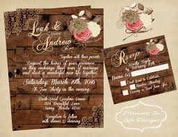 rustic vintage wedding rustic vintage wedding invitation wedding rustic wedding set