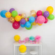 balloon garland pastel rainbow balloon cloud kit by bubblegum balloons