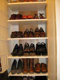 organizing shoes in small closet home design ideas