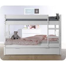 lit enfant ludique découvrez le lit superposé enfant en bois 1 2 3 blanc