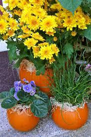 pumpkin flower pots autumn tablescapes pinterest pumpkin