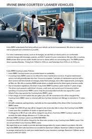 irvine bmw parts irvine bmw courtesy loaner vehicle policies