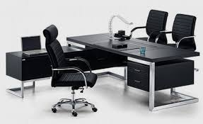 Black Office Desk Panther Black Series Executive Desk