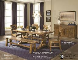 dining room tables with bench dining room