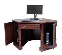 cute blue kids corner desk with pull out keyboard tray home