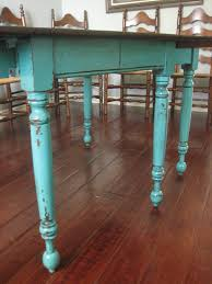 Teal Dining Chairs by European Paint Finishes Teal Dining Table U0026 Ladderback Chairs