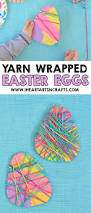 yarn wrapped easter egg craft for kids i heart arts n crafts