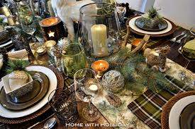 rustic dinner table settings rustic winter christmas table setting home with holliday