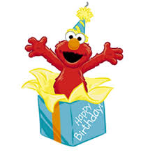 elmo birthday elmo is surprised as he pops out of a happy birthday gift candle