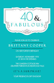 surprise 40th birthday invitations wblqual com