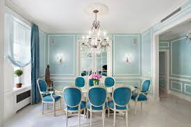 blue chic dining room archives dining room decor