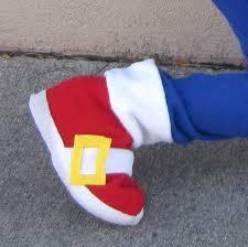 Sonic Hedgehog Halloween Costume Shoe Covers Sonic Hedgehog Inspired Boys Costume