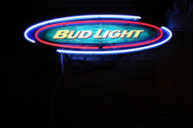 bud light neon light liquor hole minnesota prairie roots