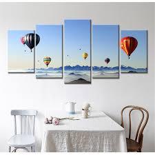 home decor drop shipping 5 panel drop shipping modern home decor hot air balloon sea hd