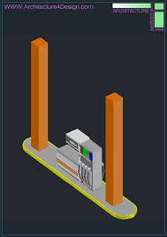 autocad architektur 3d designs of gas station autocad collection architecture for