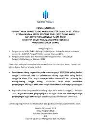 skripsi akuntansi ekonomi pengumuman pendaftaran sidang dan krs skripsi tugas akhir genap