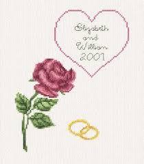 wedding anniversary cards wedding anniversary card cross stitch pattern wedding