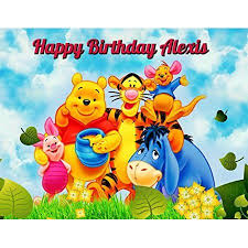 winnie the pooh edible image photo cake topper sheet personalized