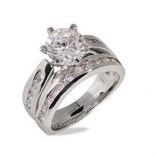 best cubic zirconia engagement rings wedding rings cubic zirconia vs side by side white gold